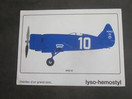 AVION POTEZ 53 PUB PHARMACEUTIQUE LYSO HEMOSTYL MILIEU ANNEES 60 SERIE 19 - Aviation