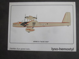 AVION ANTONOV 20 MAXIME GORKI PUB PHARMACEUTIQUE LYSO HEMOSTYL MILIEU ANNEES 60 SERIE 20 - Aviation