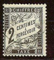 SUPERBE TAXE DUVAL N°11 2c Noir Oblitéré Cachet à Date Cote 30 Euro PAS D'AMINCI - Taxes