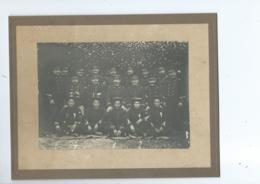 Militaria, Indochine, Grande Photo Sur Carton De Coloniaux Et De Tirailleurs Tonkinois, Beau Document - Militaria