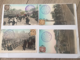 """4 Cartes Postales '"""" Funeral Emperor's Chinese"""" - China"""