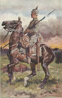 AK 1. Weltkrieg Kavallerie-Soldat Bayern Rotes Kreuz  A. Hoffmann ~1915 #14 - Rotes Kreuz