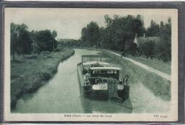 Carte Postale 18. Léré  Péniche Sur La Canal  Très Beau Plan - Lere