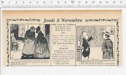 2 Scans Humour De 1904 Banque Caisse D'Epargne Guichet Guichetier Annamite Anémique Statue En Glaise 223S - Non Classés