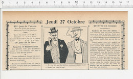 2 Scans Humour De 1904 Métier Acteur De Théatre Four Thème Intermittent Du Spectacle 223S - Non Classés