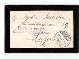 16742 01  HELVETIA  BELLINZONA TO LUZERN - FRANCO RETRO ANFRACCASSEMENT AU VERSO - Svizzera