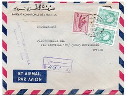 SYRIA/SYRIE - REGISTERED AIR MAIL COVER TO ITALY /BANQUE COMMERCIALE DE SYRIA S.A./BANK / DAMAS CANCEL 1976 - Syria