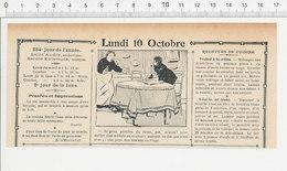 2 Scans Humour De 1904 Boisson Bouteille De Rhum / Fruit Poire Coing  223S - Non Classés
