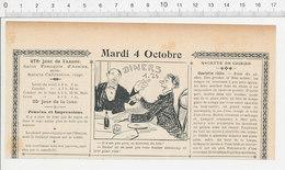 2 Scans Humour De 1904 Fromage De Brie   223S - Non Classés