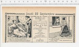 2 Scans Humour De 1904 Superstition Vendredi Treize 13 / Généalogie Michu Astronome Métier  223S - Non Classés