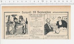 2 Scans Humour De 1904 Beurre D'anchois Beurre D'Isigny / Dentier Perruque Cheveux Cheval De Fiacre 223S - Non Classés