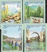Natur Park Perucica Bosnien 339/2 B O 70€ Brücken In MostarRafting History Bridge Ss Set Of 50 Year CEPT 1956-2006 - Holidays & Tourism
