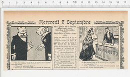 2 Scans Humour De 1904 Auvergne Danse Bourrée Agriculture Labour Mercerie Mercier Métier Souliers à Clous 223S - Non Classés