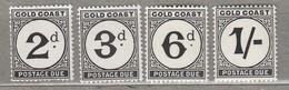 GOLD COAST 1951-1952  Due MNH (**)  Mi 5-8 SG D5-D8  #23349 - Côte D'Or (...-1957)