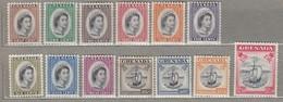 GRENADA 1953-1959  MNH/MVLH (**/*)  Mi 163-175 SG 192-204  #23350 - Grenada (...-1974)