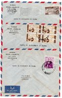 LIBAN/LEBANON - LOT N.3 AIR MAIL COVER TO ITALY WITH DIFFERENT STAMPS / BANQUE BELGO-LIBANAISE / BANK - Libano