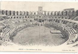 ARLES . VUE INTERIEURE DES ARENES . AFFR AU VERSO LE 13-04-1905 . 2 SCANES - Arles