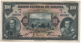 BOLIVIA  100 Bolivianos  Serie  H   (L. 1928)    P125a    VF/XF - Bolivie
