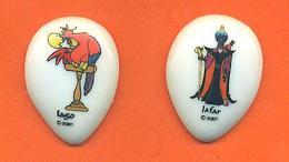 Lot De 2 Feves Plates De La Serie Aladdin 1994 - Disney