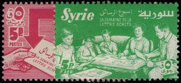 Syria 1957 International Correspondence Week Unmounted Mint. - Syria