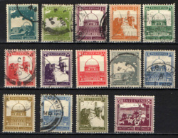 PALESTINA - 1927 - TOMBA DI RACHELE - CITTADELLA DI GERUSALEMME - MOSCHEA D'OMAR - USATI - Palestine