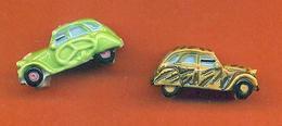 Lot De 2 Feves De La Serie 2 CH Customisées 2006 - Citroen 2 Ch - Charms