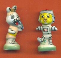 Lot De 2 Feves De La Serie Terre à La Lune 1994 - Grandes 43/45 Mm - Animals