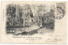 ROQUEFAVOUR .387. L'ENTREE DE L'ERMITAGE . DOS NON DIV AFFR SUR RECTO LE 20-7-1903 - Roquefavour