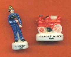 Lot De 2 Feves De La Serie Pompiers à Travers Le Temps - Characters