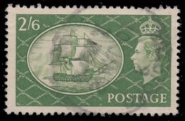 Re Giorgio VI (nuovo Disegno) - 2'6 Sh. Verde Oliva (251) - 1951 - Usati