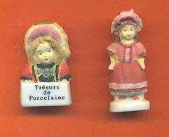 Lot De 2 Feves De La Serie Les Trésors De Porcelaine Poupées 2005 - Mat - Characters