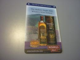 Ireland Dublin Unknown Hotel Room Key Card (Bushmills Mellow Single Malt Irish Whiskey) - Cartes D'hotel