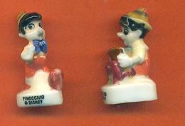 Lot De 2 Feves De La Serie Pinocchio 1998 - Disney