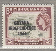 BRITISH GUIANA 1966  Overprinted MNH (**)  Mi 141 SG 380  #23354 - Guyane (1966-...)