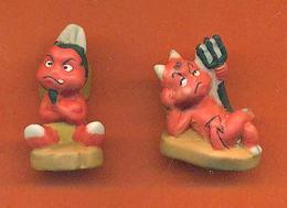 Lot De 2 Feves De La Serie Les Petits Anges Et Démons - Mat - Animals