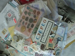 BIG LOT, 300+ COVERS, POSTCARDS, TELEGRAMS; 2000+ WORLDWIDE STAMPS, AND OTHER, SEE 44 PHOTOS - Mezclas (min 1000 Sellos)