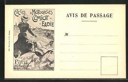 AK Paris, Cycles & Motocycles Comiot-Eadie, 87 Boulevart Gouvion St-Cyr, Fahrrad- Und Motorradverkauf - Motos