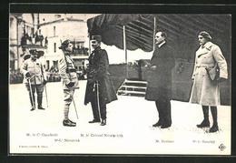 CPA Congnac, Treffen Von Heerführer N. Bozinov, M. Le Colonel Nicolavicth, M. Le C. Ciambelli - Non Classés