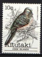 AITUTAKI - 1981- GEOPELIA STRIATA - MNH - Aitutaki