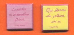 Lot De 2 Feves De La Serie L'art Du Quotidien 2008 - Dictons - Charms