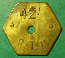 Infanterie Coloniale - 42ème R.T.M. (tirailleurs Malgaches) - 1 F - Monetary / Of Necessity