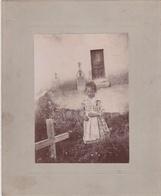 Photo De Jeune Fille Sur Carton Format13,5x16,5 - Persone Anonimi