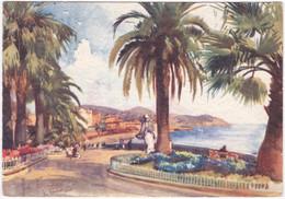 GIARDINI IMPERATRICE, SAN REMO. ALDO RAIMONDI PAINTING. 1957 - San Remo