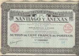 COMPAGNIE MINIERE DE SANTIAGO Y ANEXAS - ANNEE 1928 - Mines