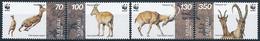 Mi 298-301 WWF World Wildlife Foundation / Bezoar Ibex Wild Goat Capra Aegagrus Aegagrus - Armenia