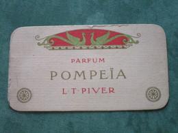 Parfum POMPEÏA - L. T. PIVER - Calendrier 1910 - Perfume Cards