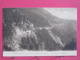 Suisse - Ligne De Chemin De Fer De Martigny Châtelard - Du Châtelard à Finshauts - CPA Excellent état - Recto-verso - VS Valais
