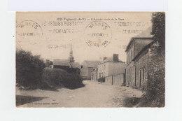 Sur Carte Postale Type Semeuse 40 C. Gris Bleu CAD Hexagonal Orgères 1930. CAD Vannes. Publicité Chèques Postaux. (859) - 1921-1960: Période Moderne