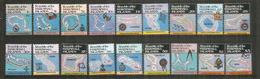 L'atoll Kwajalein, Le Plus Grand Du Monde, Et Les Autres Atolls Des îles Marshall.Série Complète,18 Timbres Neufs ** 45€ - Marshall