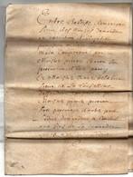 Acte Notarial Notaire Manuscrit Sur Parchemin 17ème 1655 Jugement 8  Pages - Manoscritti